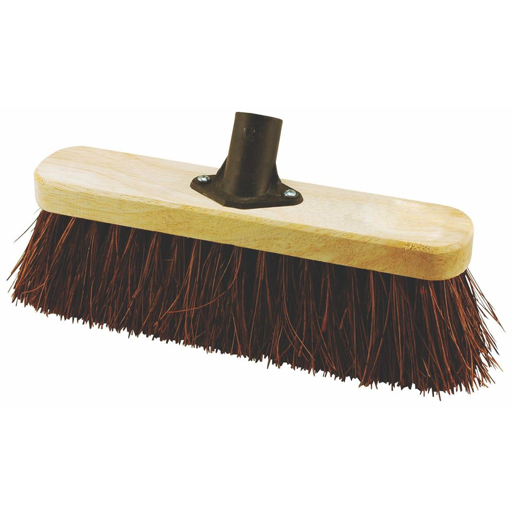 Elliott Fsc Wooden Broom Head 29cm With Bassine Fibres