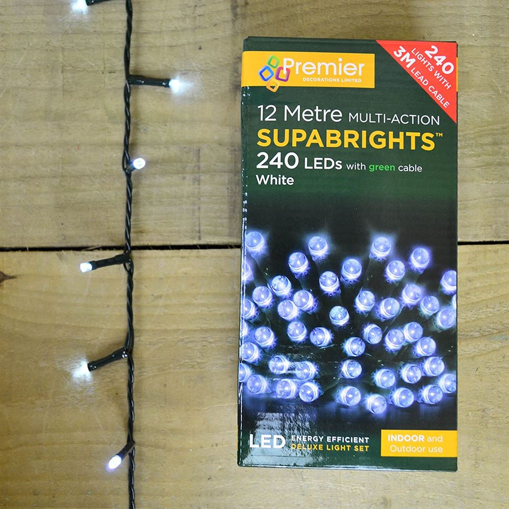 Led 240 M-a Indoor Supabrights White 5cm 3cm